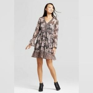 ♥️ Knox Rose Lurex Print Tie Sleeve Dress